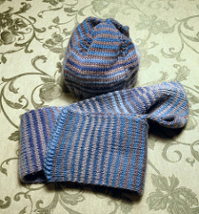 Striped Hat & Scarf Set