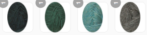 Yarn colors with medium grey