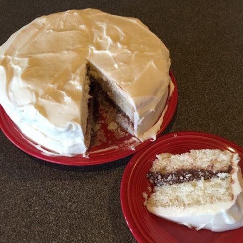 Vanilla Wedding Cake with Mocha Filling