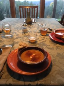 soup at the table