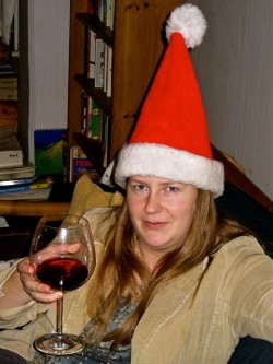 Santa Sarah Wishes You a Happy Christmas