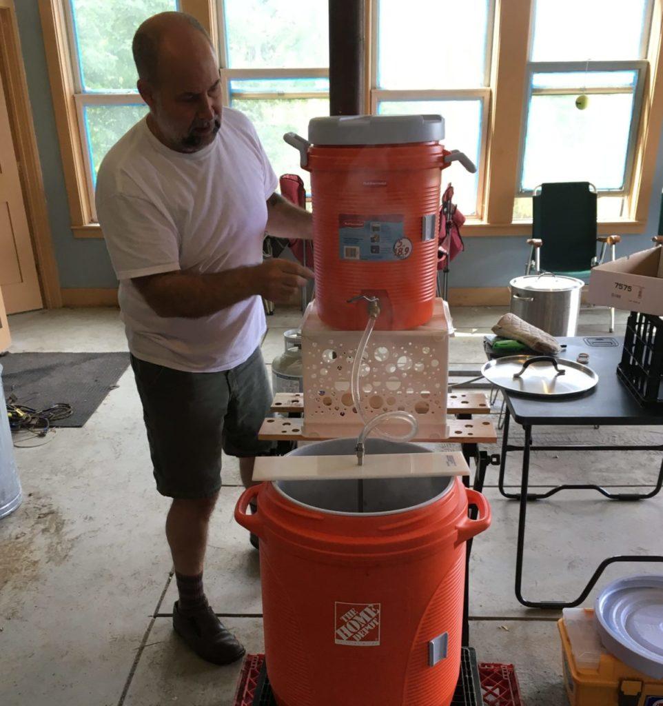 Rick brews beer