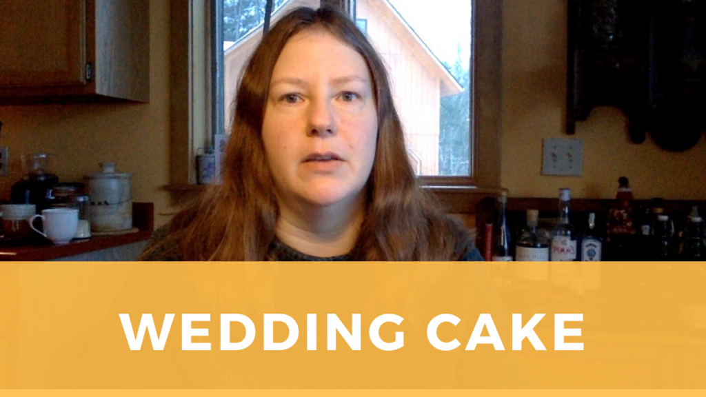 Sarah talks about wedding cake recipe