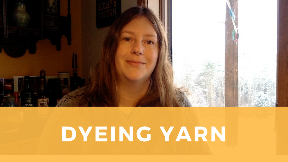 Getting started with dyeing yarn: lessons learned