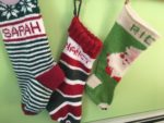 Hand knit Holiday Stockings