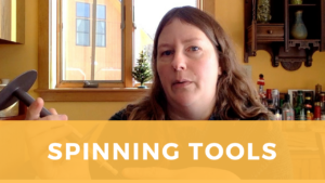 Screenshot of Sarah from video on Spinning Tools