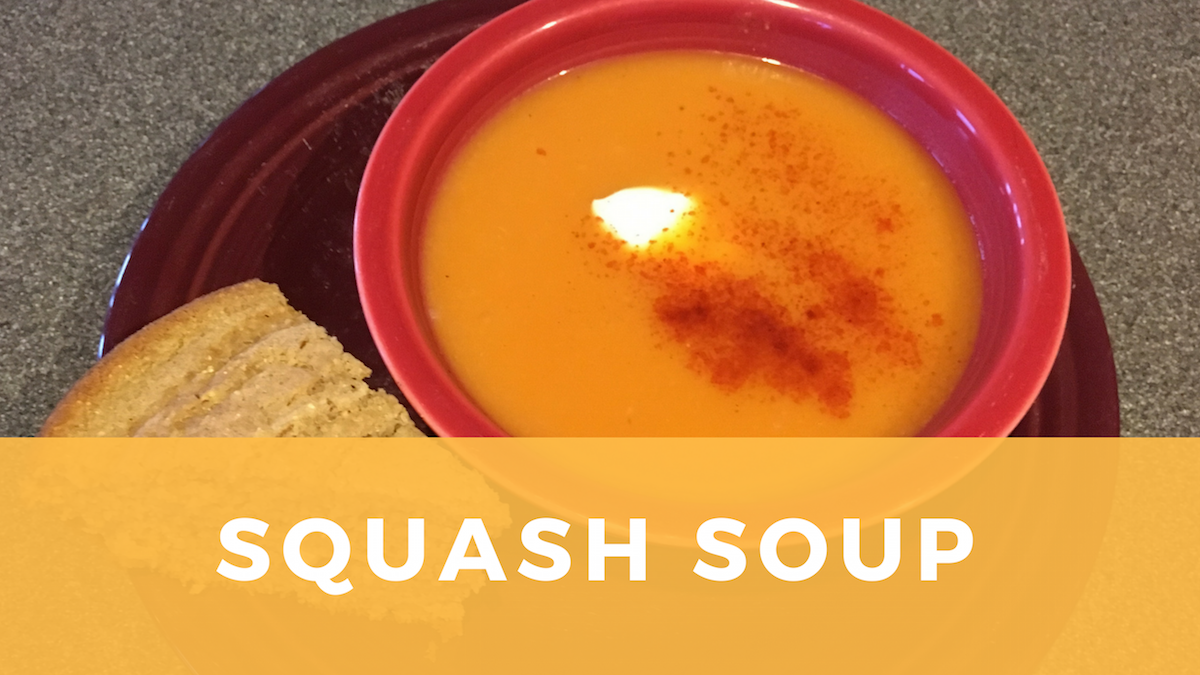 Butternut Squash Soup is a Warm Spicy Fall Favorite