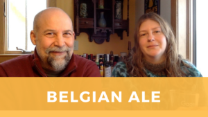 Screenshot of Rick and Sarah from video on Belgian Ale