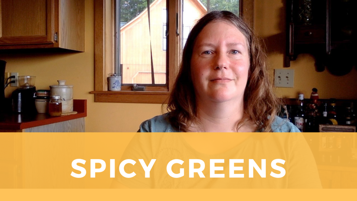 Spicy Greens, or: What to do with that mystery veg in my CSA box