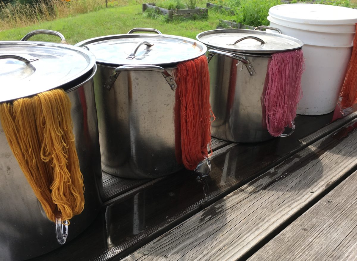 Dip Dye Yarn: An easy technique creates striped or variegated effects