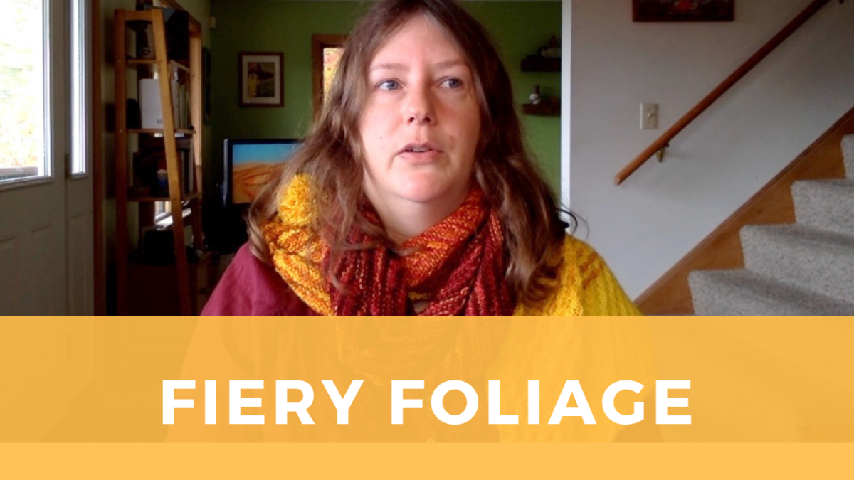 Fiery Foliage scarf captures the colors of autumn