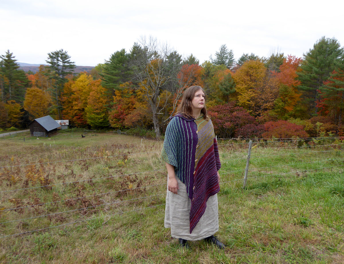 Don't Wait Up: a versatile shawl, scarf, and poncho in one