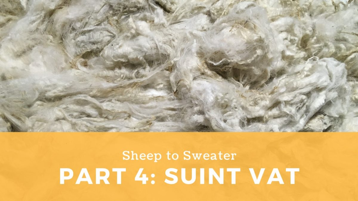Sheep to Sweater – Part 4: Suint vat cleaning method